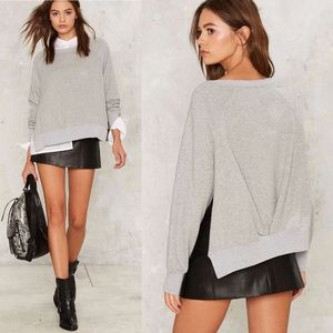Nasty Gal Wear and Tear Slit Sweater